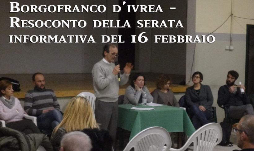 Pochi chiarimenti nell'incontro pubblico a Borgofranco