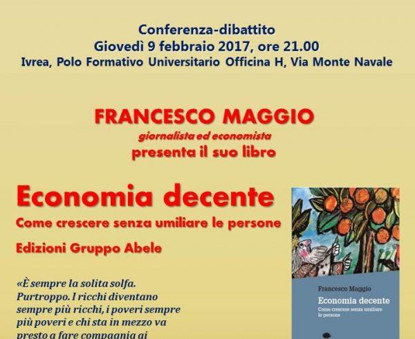 Conferenza – Economia decente: come crescere senza umiliare le persone