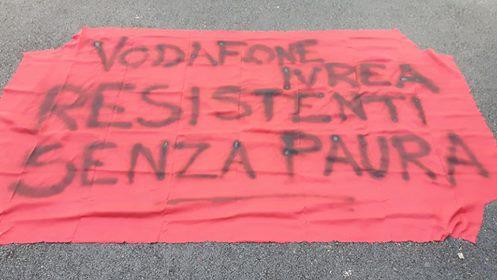 Vodafone: presidio e conferenza stampa a Torino