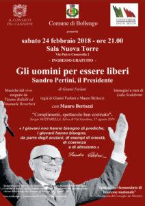 Gli uomini per essere liberi. Sandro Pertini, il Presidente @ Sala Nuova Torre