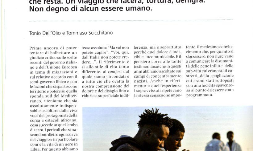 Un articolo di Mosaico di pace sui migranti in libia