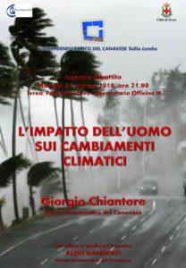 Uomo e cambiamenti climatici @ Polo universitario dell'Officina H