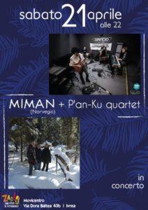 Miman (Norvegia) + P'an-Ku quartet @ Zac!