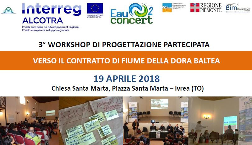 3° Workshop a Ivrea per il Contratto di Fiume della Dora Baltea