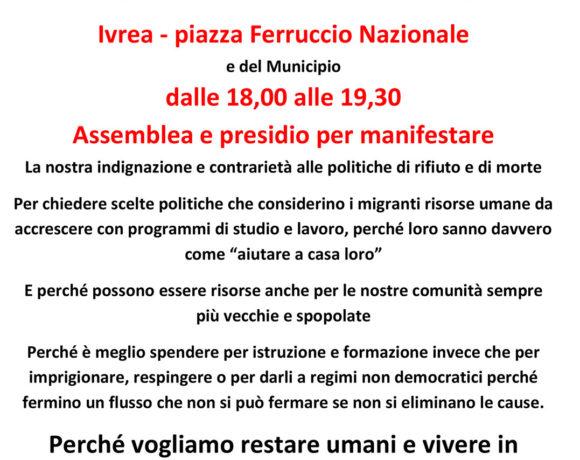 Osservatorio Migranti Ivrea: il 20 giugno in piazza Ferruccio Nazionale