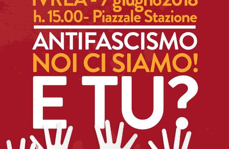 """Manifestazione antifascista a Ivrea il 7 giugno: """"Noi ci siamo! E tu?"""""""