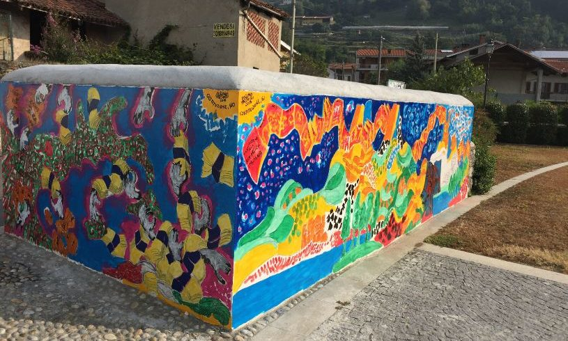 Un murale per la Costituzione a Bollengo