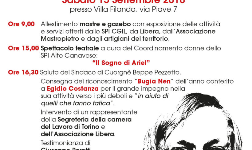 """Don Ciotti a Cuorgnè il 15 settembre per il premio a """"Gigio"""" della Mastropietro"""