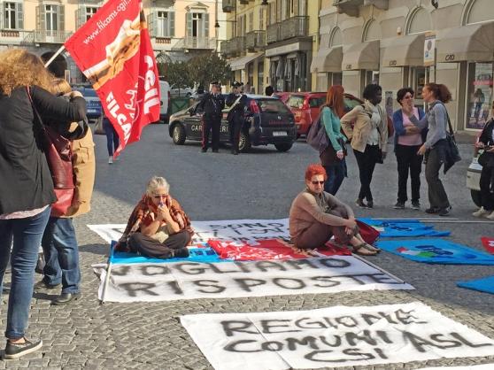 Lavoratori CIC in piazza