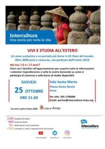 Presentazione programmi Intercultura @ Ivrea