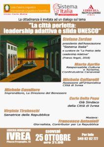 """""""La città perfetta: leadership adattiva e sfida UNESCO"""" @ Ivrea"""