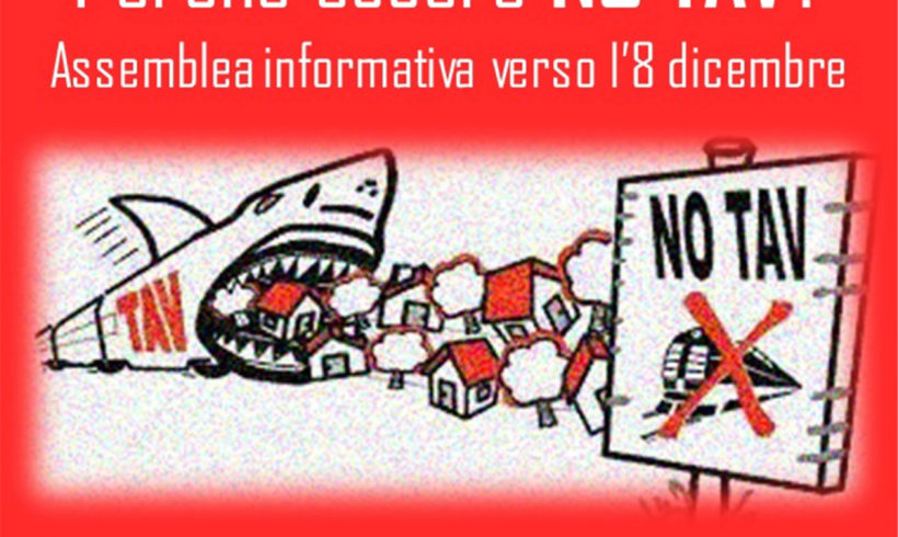 Assemblea NO TAV informativa a Ivrea il 2 dicembre