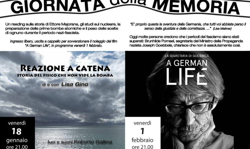 """Giornata della Memoria: proiezione del documentario""""A German Life"""" il 1° febbraio"""