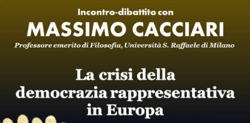 Massimo Cacciari al Forum Democratico parla di crisi della democrazia rappresentativa in Europa