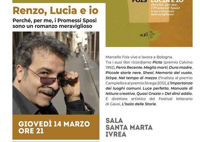 Tre incontri con lo scrittore Marcello Fois a Ivrea