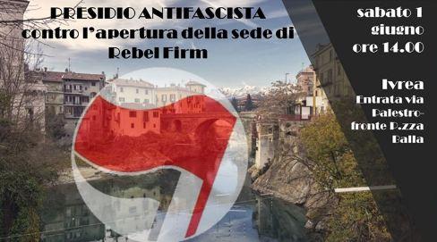 CSA Castellazzo: «Ivrea è antifascista. Nessuno spazio per Rebel Firm»
