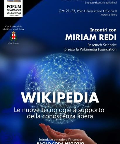 Wikipedia, nuove tecnologie e libera conoscenza al Forum Democratico