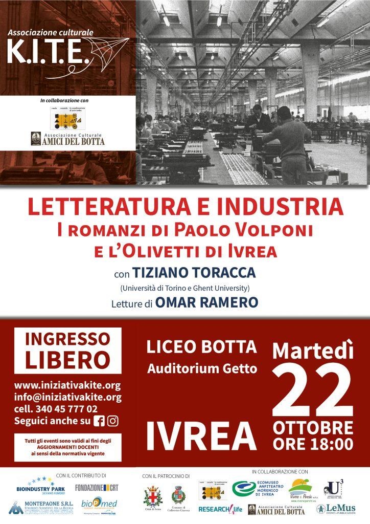 I romanzi di Paolo Volponi e l'Olivetti di Ivrea @ Auditorium Liceo Botta