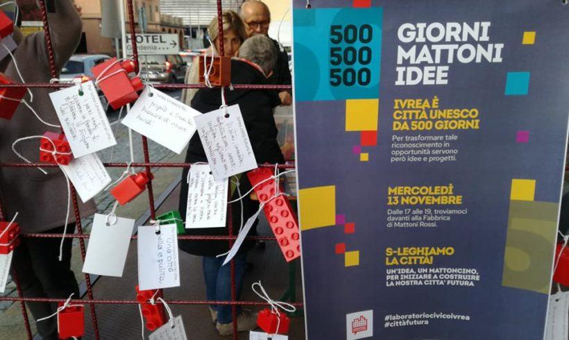 500 giorni, 500 mattoncini, 500 idee. Il Laboratorio Civico Ivrea si presenta
