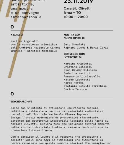 Beyond Archive alla Casa blu Olivetti