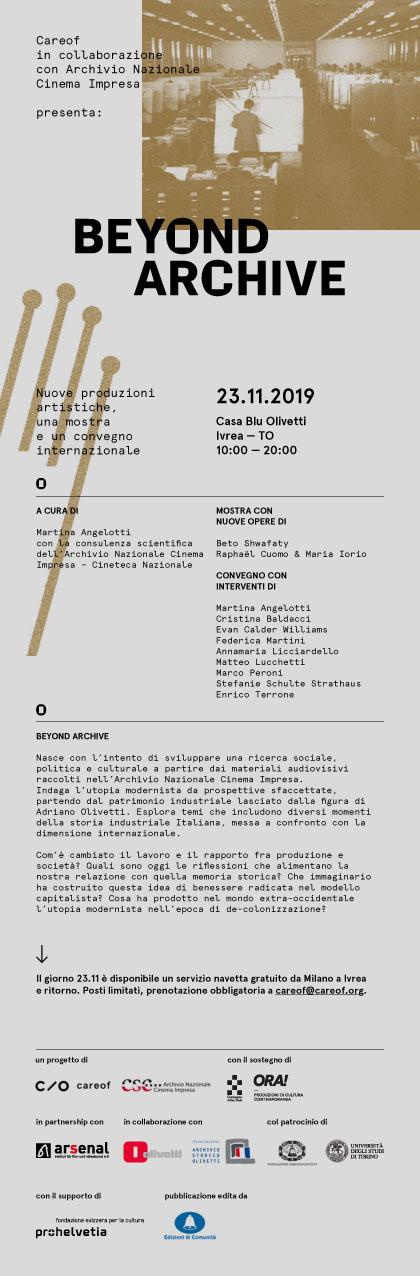 Beyond archive @ casa blu Olivetti