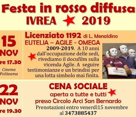 Festa in rosso diffusa a Ivrea
