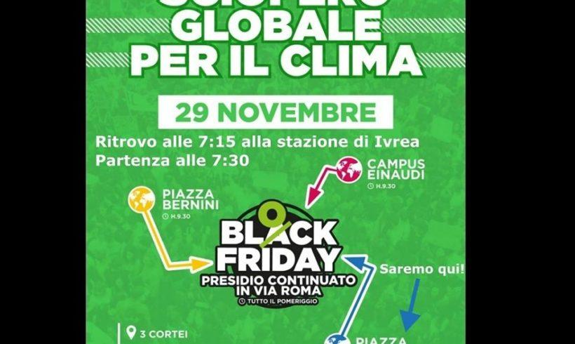 Quarto sciopero globale del clima di venerdì 29 novembre: Fridays for Future Ivrea ci sarà