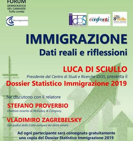 Di Sciullo, Proverbio e Zagrebelsky ospiti del Forum Democratico del Canavese per parlare d'immigrazione