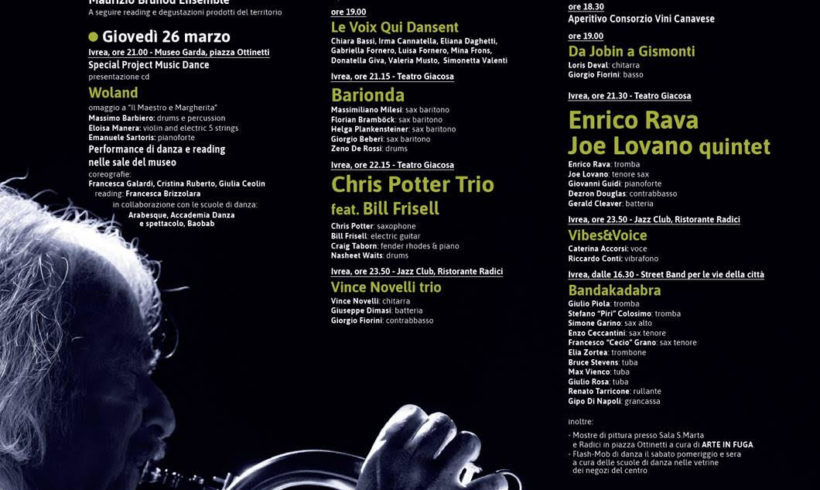 Dal 25 marzo torna il Jazz Festival. Tutti i nomi