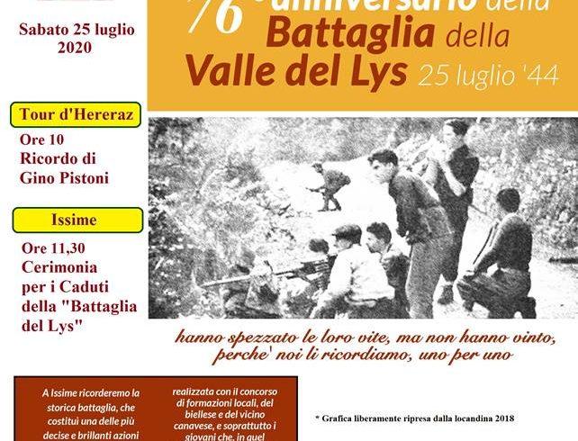 """Il 25 luglio con l'ANPI il ricordo della """"Battaglia del Lys"""""""