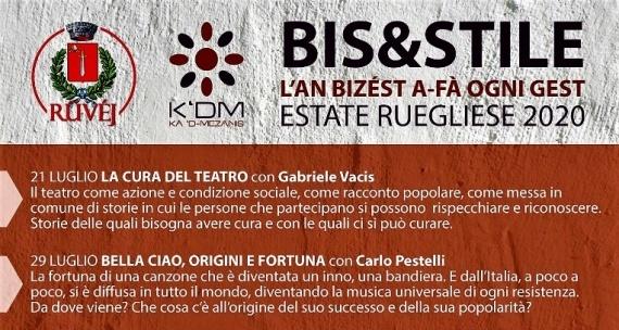 BIS&STILE – Incontri d'estate a Rueglio