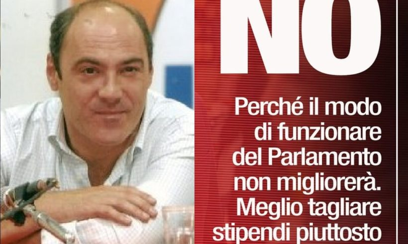Franco Giorgio, Art. 1 Ivrea: invito a votare NO al referendum