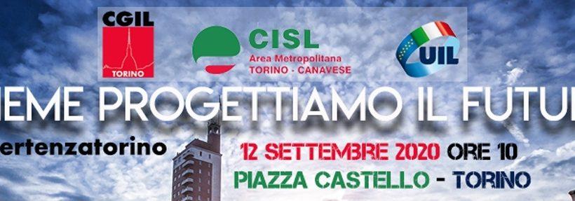Rinascita Torino. Manifestazione sindacale sabato 12 settembre