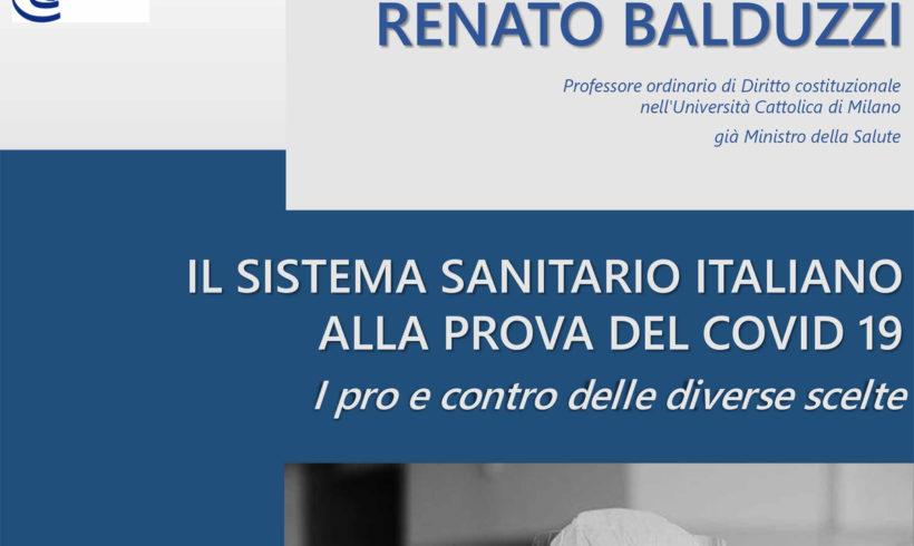 Il sistema sanitario italiano alla prova del Covid. Incontro con Renato Balduzzi
