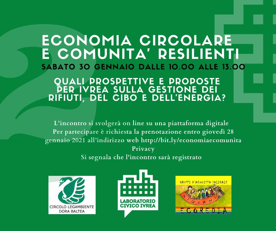 Economia circolare e comunità resilienti @ web