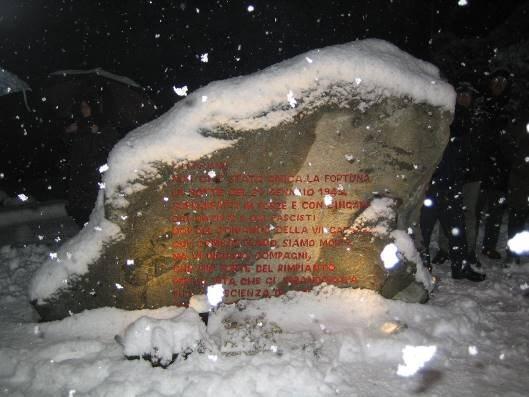 Commemorazione della cattura a Lace del comando partigiano della VII Divisione, 76° Brigata Garibaldi