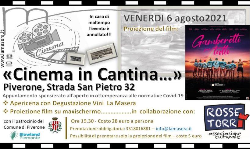 Cinema in Cantina venerdì 6 agosto a Piverone