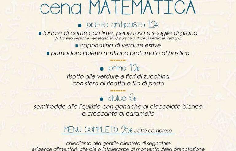 Cena matematica allo ZAC!